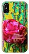 Soutime Rose Against Cracked Wall IPhone Case