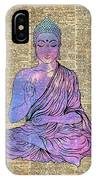 Space Buddha Dictionary Art IPhone Case