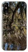 Spainsh Moss Hanging Over Pond On Middleton Place IPhone Case