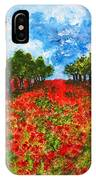Spanish Poppies IPhone Case