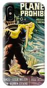 Spanish Version Of Forbidden Planet In Cinemascope Retro Classic Movie Poster IPhone Case