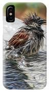 Sparrow Bath Time 9242 IPhone Case