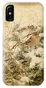Sparrow In Winter I - Textured IPhone Case