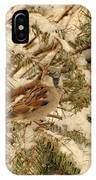 Sparrow In Winter Iv - Textured IPhone Case