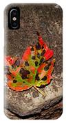 Speckled Leaf IPhone Case