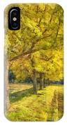 Spectacular  Fall Foliage Pencil  IPhone Case