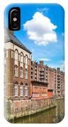 Speicherstadt Warehouse District In Hamburg IPhone Case