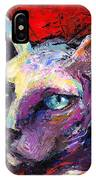 Sphynx Sphinx Cat Painting  IPhone Case