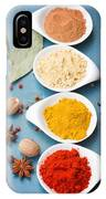 Spices On Blue   IPhone Case