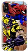 Spider And The Wolverine IPhone Case