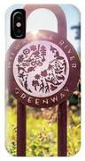 Spiderweb On Milwaukee River Greenway Sign IPhone Case