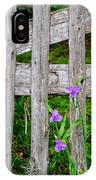 Spiderworts By The Gate IPhone Case