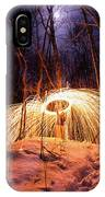 Spinning Steel Wool In Snow IPhone Case