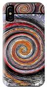 Spiral Frenzy Poster IPhone Case