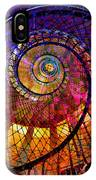Spiral Spacial Abstract Square IPhone Case