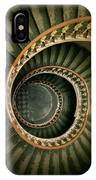 Spiral Staircase  In Green And Yellow IPhone Case