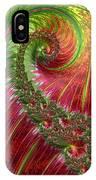 Spiralling Fractal Three IPhone Case