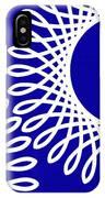 Spirals With Blue IPhone Case