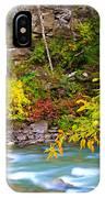 Splash Of Color Along The Creek IPhone Case