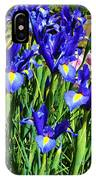 Vivid Blue Iris Flowers IPhone Case