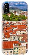Split Old City Center Aerial View IPhone Case