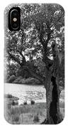 Spot The Woman And Her Dog- Behind The Tree IPhone Case