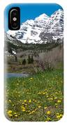 Spring At The Maroon Bells IPhone Case by Cascade Colors