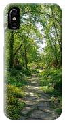 Spring At The Urban Oasis Portrait IPhone Case