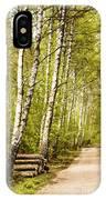 Spring Birches Woods Footpath IPhone Case