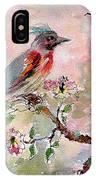 Spring Bird Fantasy Watercolor  IPhone X Case