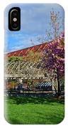 Spring Bloom At Christopher Columbus Park Boston Ma Cherry Blossoms IPhone Case