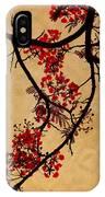 Spring Bloosom In Maldives. Flamboyant Tree I.  Japanese Style IPhone Case