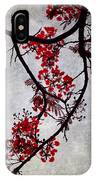 Spring Bloosom In Maldives. Flamboyant Tree II. Japanese Style IPhone Case