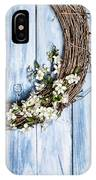 Spring Blossom Wreath IPhone Case