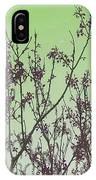 Spring Branches Mint IPhone Case
