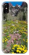 Spring Dandelion And Mountain Landscape IPhone Case