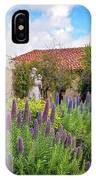 Spring Flowers In The Carmel Mission Garden IPhone Case