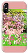 Spring Greeting With Poem IPhone Case