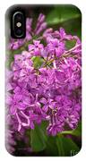 Spring Lilacs On Black IPhone Case