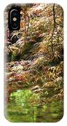 Spring Maple Leaves Over Japanese Garden Pond IPhone Case
