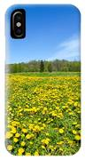 Spring Meadow Full Of Dandelions Flowers And Green Grass IPhone Case