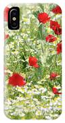 Spring Meadow With Poppy And Chamomile Flowers IPhone Case