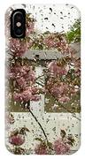 Spring Rain Outside The Window And Sakura IPhone Case