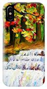 Spring Stream - Palette Knife Oil Painting On Canvas By Leonid Afremov IPhone Case