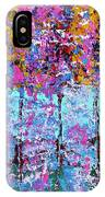 Spring Time In The Woods Abstract Oil Painting IPhone Case