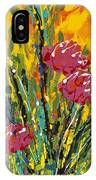 Spring Tulips Triptych Panel 2 IPhone Case