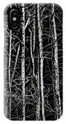 Spring Woods Simulated Woodcut IPhone Case