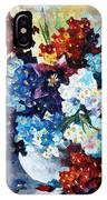 Springs Smile - Palette Knife Oil Painting On Canvas By Leonid Afremov IPhone Case