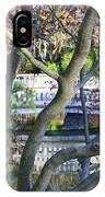 Springtime Bridge Through Japanese Maple Tree IPhone Case