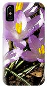 Springtime Crocuses  IPhone Case